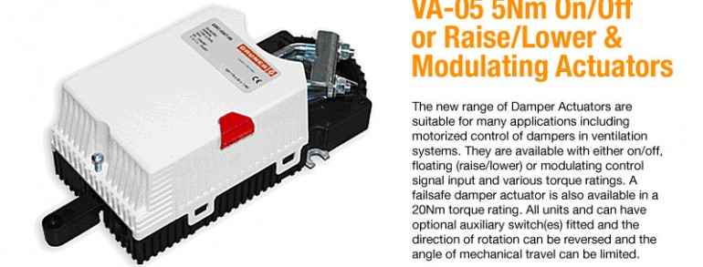VA-05 5Nm on/off or Raise/Lower and Modulating Actuators